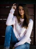 TOM TAILOR Różowy sweter z dodatkiem wełny z alpaki                                  zdj.                                  1