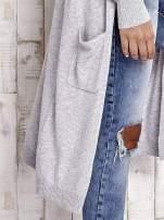 TOM TAILOR Szary długi sweter z kieszeniami                                  zdj.                                  7