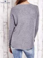 TOM TAILOR Szary gładki wełniany sweter                                                                          zdj.                                                                         4