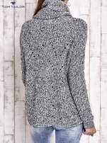 TOM TAILOR Szary melanżowy sweter z golfem                                  zdj.                                  3
