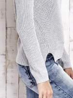 TOM TAILOR Szary sweter z rozcięciami                                                                          zdj.                                                                         6