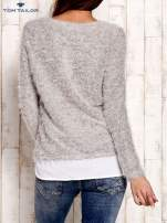 TOM TAILOR Szary warstwowy sweter long hair                                  zdj.                                  2
