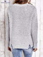 TOM TAILOR Szary wełniany sweter o grubym splocie                                                                          zdj.                                                                         5
