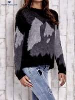 TOM TAILOR Szary wełniany sweter z abstrakcyjnym deseniem                                                                          zdj.                                                                         4