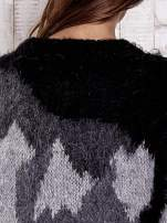 TOM TAILOR Szary wełniany sweter z abstrakcyjnym deseniem                                                                          zdj.                                                                         7