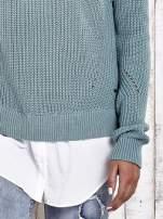 TOM TAILOR Zielony sweter z koszulą