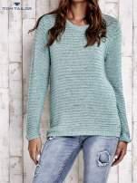 TOM TAILOR Zielony włóczkowy sweter                                  zdj.                                  2