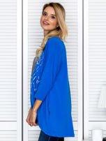 Tunika damska z malarskim sercem niebieska                                  zdj.                                  5