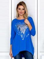 Tunika damska z malarskim sercem niebieska                                  zdj.                                  1