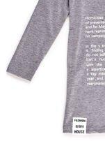 Tunika dla dziewczynki z napisami szara                                  zdj.                                  4