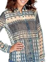 Turkusowa koszula we wzory w stylu etno                                                                          zdj.                                                                         6