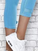 Ciemnofioletowe legginsy sportowe z patką z dżetów na dole                                                                          zdj.                                                                         6