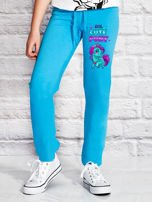 Turkusowe spodnie dresowe dla dziewczynki LITTLE CUTE PONY                                  zdj.                                  1