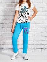 Turkusowe spodnie dresowe dla dziewczynki LITTLE CUTE PONY                                  zdj.                                  4