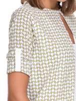 Wzorzysta żółta koszula o kroju narzutki                                                                          zdj.                                                                         8