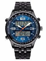 ZEMGE Zegarek sportowy męski Klasa wodoszczelności 3 ATM Chronograf Datownik Alarm Podświetlenie 2 Czasy
