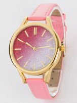 GLITTER OMBRE różowy zegarek damski                                  zdj.                                  1