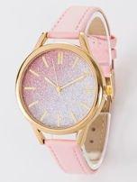 GLITTER OMBRE jasno różowy zegarek damski                                  zdj.                                  1