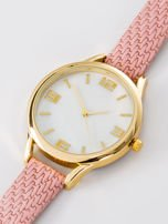 Zegarek damski różowo złoty z perłową białą tarczą                                  zdj.                                  2