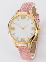 Zegarek damski różowo złoty z perłową białą tarczą                                  zdj.                                  1