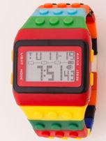 Zegarek unisex z kolorowych klocków Wiele wariantów kolorystycznych                                  zdj.                                  2