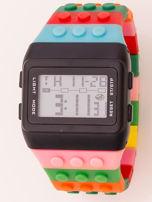 Zegarek unisex z kolorowych klocków Wiele wariantów kolorystycznych                                  zdj.                                  1