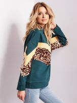 Zielona bluza damska oversize                                  zdj.                                  4