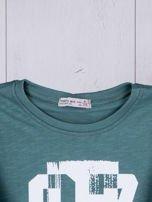Zielona bluzka dziecięca urban print                                  zdj.                                  3