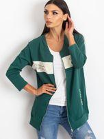 Zielona dresowa bluza z aplikacją                                  zdj.                                  1