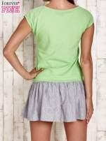 Zielona dresowa sukienka tenisowa z sercem                                  zdj.                                  2