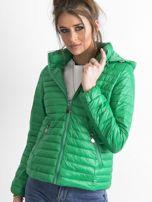 Zielona kurtka przejściowa z kapturem                                  zdj.                                  6