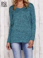 Zielona melanżowa bluzka z przedłużanym tyłem                                  zdj.                                  1