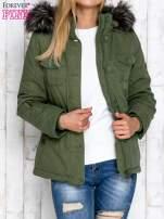 Zielona ocieplana kurtka z suwakami                                  zdj.                                  6