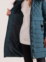 Zielona pikowana kurtka zimowa                                  zdj.                                  6