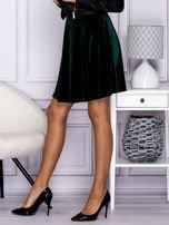 Zielona spódnica z weluru                                  zdj.                                  3