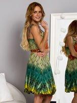 Zielona sukienka dzienna na ramiączka w stylu etno                                  zdj.                                  2
