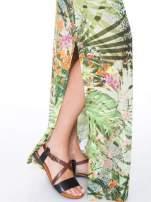 Zielona sukienka maxi w egzotyczny nadruk palm                                  zdj.                                  5