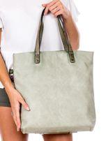 Zielona torba z nadrukiem                                   zdj.                                  4