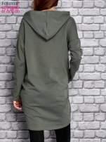 Zielona tunika z aplikacją ze sztrasów                                   zdj.                                  4