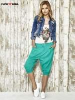 Zielone spodnie alladynki z bocznymi kieszeniami FUNK N SOUL                                                                          zdj.                                                                         2