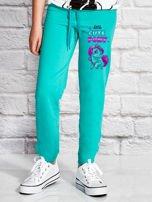Zielone spodnie dresowe dla dziewczynki LITTLE CUTE PONY                                  zdj.                                  1