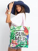 Zielono-różowa torba z egzotycznym nadrukiem                                  zdj.                                  7