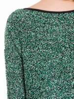 Zielony melanżowy sweter bouclé                                                                          zdj.                                                                         7