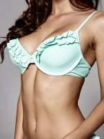 Zielony stanik od bikini zdobiony falbanką                                  zdj.                                  4
