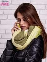 Zielony wełniany szalik w szeroką kratę                                  zdj.                                  2