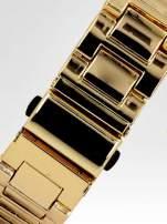 Złoty zegarek damski na bransolecie z cyrkoniami na kopercie                                                                          zdj.                                                                         4