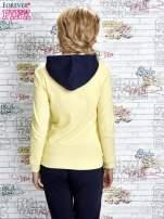 Żółta bluza z granatowymi wstawkami                                  zdj.                                  4