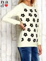 Żółta bluza z nadrukiem kwiatów                                  zdj.                                  3