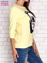 Żółta bluza z nadrukiem pandy                                  zdj.                                  3