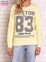Żółta bluza z napisem BOSTON 83                                                                          zdj.                                                                         1